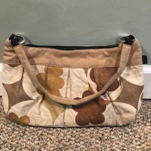 1154 Lill brown floral purse